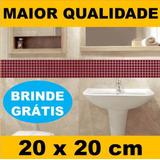 Adesivo (20x20cm) P/ Cozinha E Banheiro Pastilha Decorativa