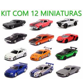 Kit C/ 12 Miniaturas Velozes E Furiosos Modelos 1/32 Jada