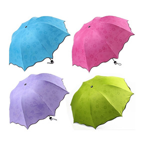 Paraguas Colores Manual De Bolsa Regalo Mujer Solar Spf50+