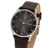 Reloj Skagen Skw2343 Acero Inoxidable Malla Cuero Chato