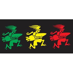 Adesivo Bonequinho Surfista Do Reggae P/ Caminhão 30x13cm