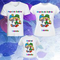 Camisetas Personalizadas - Kit Família 3 Camisetas