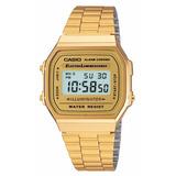 Reloj Casio Retro Dorado Clasico Unisex A168wg-9wdf