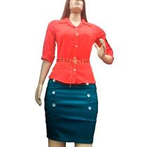 Camisa Social Viscose Moda Evangélica