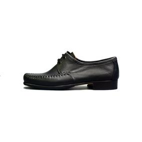 Zapato Mocasín Clasico De Cuero Negro Interior Forrado Media