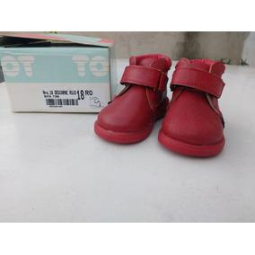 Zapatitos Toot De Cuero Taller 28 Rojos Como Nuevos