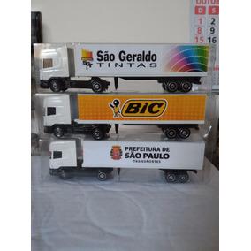 Miniatura Scania Carreta Escala 1:87 Maquete Valor Unidade