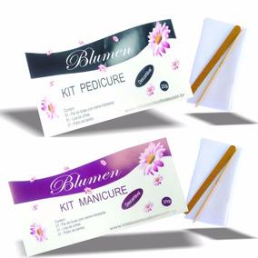 25 Kit Manicure, 25 Pedicure Descartável Com Toalha