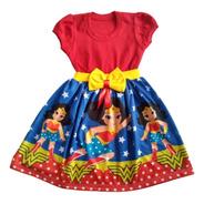 Vestido Infantil Mulher Maravilha Fantasia/roupa Temático