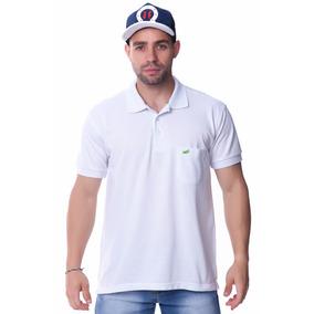 Camisa Camiseta Gola Polo C/ Bolso Varias Cores Lisa Casual