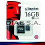 Memoria Micro Sd 16gb Kingston Clase 10 Tarjeta Memory Usb