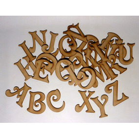 Letra Letras Fibrofacil 2 Cm Alto X Unidad Aplique Souvenir