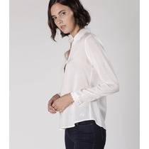 Camisa La Martina Mujer Ml Teñida Isolda Off-white