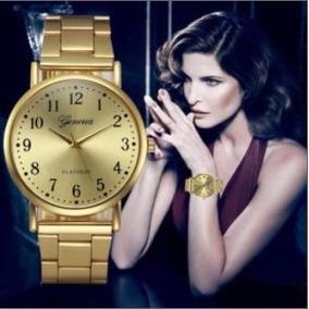 Reloj Quarzo Mujer Geneva Platinum Acero Inoxidable Dorado