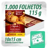 1000 Panfleto Folheto Flyer 10x15 Cm F/v Color Couchê 115g