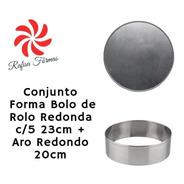 Conjunto Forma Bolo De Rolo Redonda C/ 5 23cm + Aro Redondo