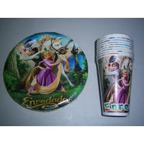 Platos Vasos Desechables Articulos Fiesta Rapunzel Enredados