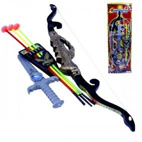 Brinquedo Kit Arco E Flecha + Punhal Infantil 6 Peças 9088