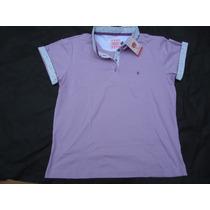 Golf Play Camisa Camiseta Polo Feminina Cor Lilás