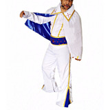 Fantasia Elvis Presley Com Capa Adulto Masculina Luxo Branca