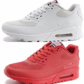 Nike Air Max Blancas Y Rojas C/caja Entrega Inmediata!!