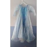 Disfraz Vestido Estilo Elsa Frozen Para Niña 5 Años
