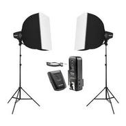 Kit Iluminação Studio Fotográfico Flash Argos Softbox Odonto