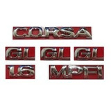 Kit Emblemas Corsa Sedan Gl 1.6 Mpfi + Lateral Gl 97 A 02