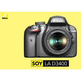 Nikon D3400 Kit 18-55 Full Hd 24mp Nueva