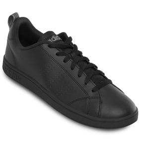 Tenis adidas Negro Advantage Piel Casual Clasico Original