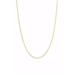Cordão Corrente Veneziana 70cm Em Ouro 18k 750 Maciço