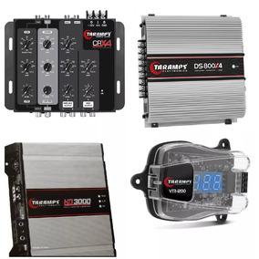 Kit Amplificador Hd3000 2 Ohm + Ds800 X4 + Crx4 + Vtr1200