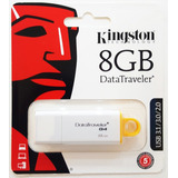 Pendrive Kingston 8gb Dt G4 Usb 3.1 3.0 2.0 100% Original!