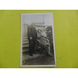 Antigua Foto Fotografia 1928 Caballero Mujer Niño Sillon
