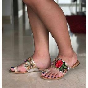 Sandalias Planas Bajitas Hermosas Mujer Calidad Colombiana
