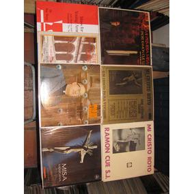 Lote 7 Disco Lp Acetato Vinyl Mi Cristo Roto Religiosa Misa