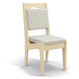 Conjunto 2 Cadeiras Kappesberg 2cad105 Pine C Linho Bege Fol