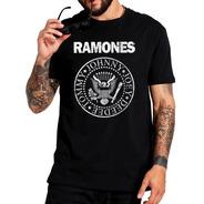 Camiseta Ramones Banda Punk Rock Moda Masculina Logo Camisa