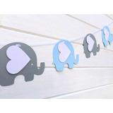Banderin Girnalda.elefantitos Baby Shower
