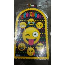 Cartel Bienvenidos Temática Emojis