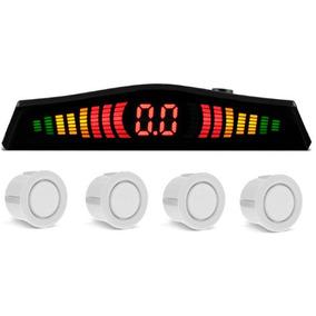Kit Sensor Estacionamento 4 Pontos Ré C/ Display Led Branco