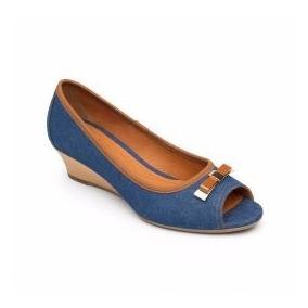 Zapato Flexi Dama Azul Mezclilla 18812 Confort Casual Vestir