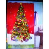 Cortina De Baño Navidad Con Ganchos 1,80 X 1.80 Impermeable