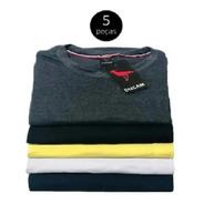 Camiseta Masculina Kit Com 5 Original, Algodão