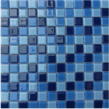 Pastilha Vidro Cristal Miscelânea Azul 01 Placa