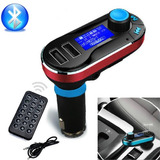 Nuevo Bluetooth Coche Kit Reproductor Mp3 Fm Transmisor Sd L