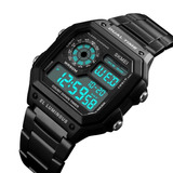 Reloj Militar Skmei Negro Gun Metal Digital Impermeable Wow!