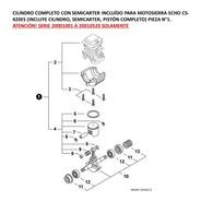 Cilindro Con Semicarter Incluido Para Motosierra Echo Cs-420