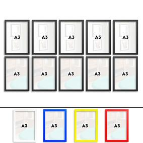 Moldura Decorativa A3 Com Vidro Melhor Qualidade Do Mercado