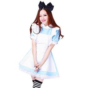 Treasure-box Vestido De Mucama Azul Lolita Maid Traje De Cos dfd101870cb5